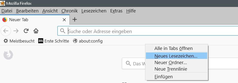 neues lesezeichen - Firefox  Passwörter im Klartext anzeigen lassen