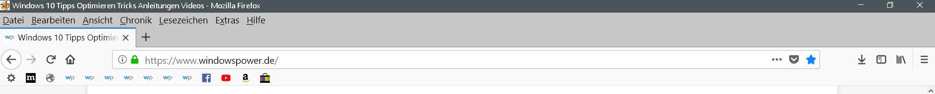 nur favicons - Firefox Lesezeichensymbolleiste ohne Text anzeigen