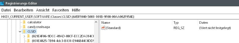 oberwert - Windows 10 Papierkorb auch im Datei Explorer anzeigen lassen