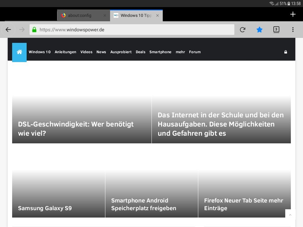 ohne bilder - Android Datenvolumen sparen mit Firefox