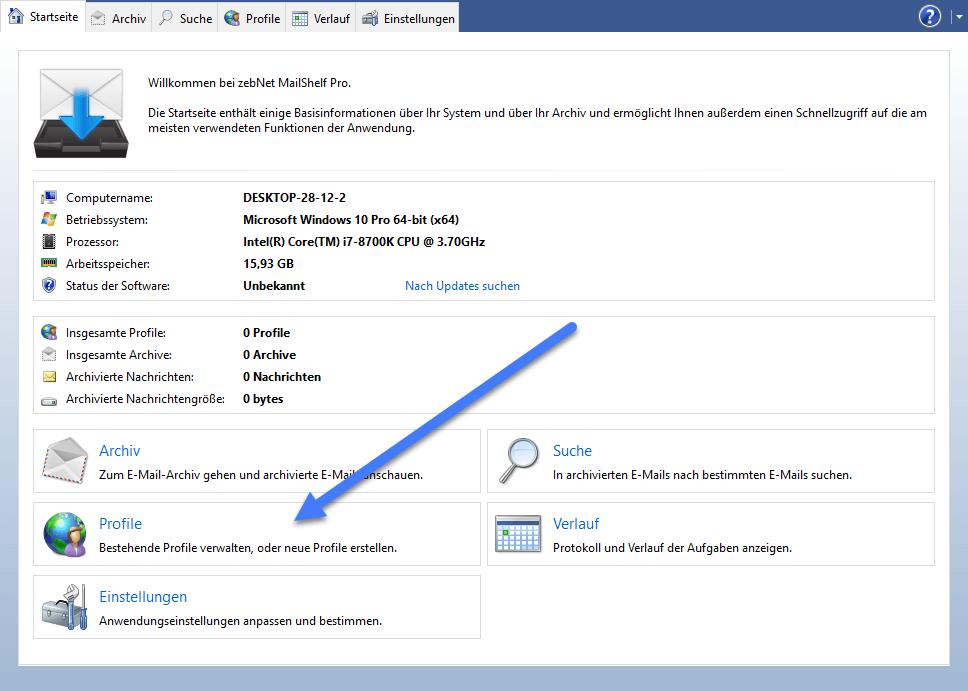profile - MailShelf Pro professionelle E-Mail-Archivierung – Wir verlosen 10 Lizenzen