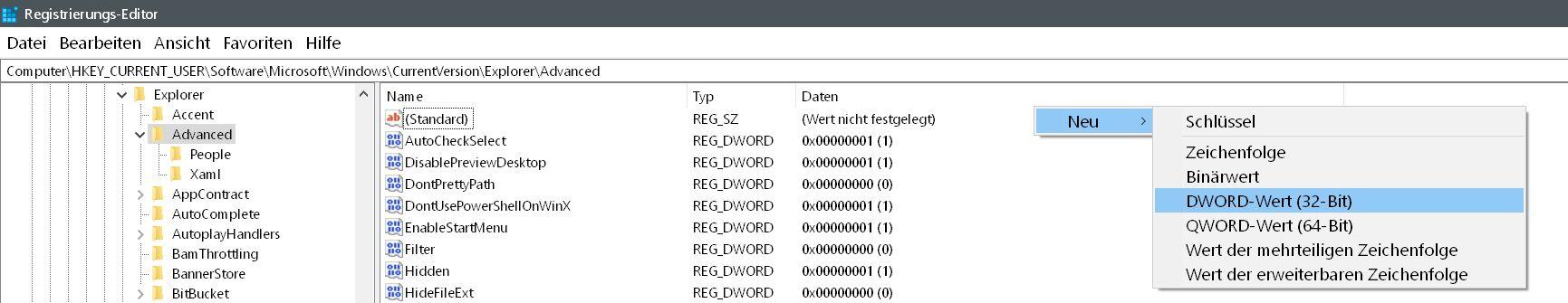 Windows 10 Uhrzeit in der Taskleiste mit Sekundenanzeige 5