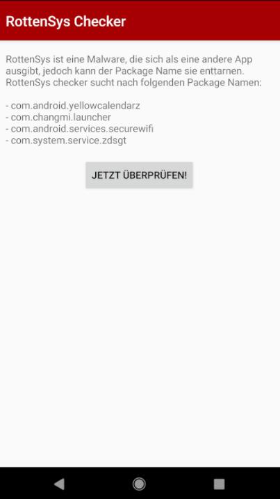 rottensys - Ashampoo RottenSys Checker – Schützen Sie ihren Android Smartphone von Malware