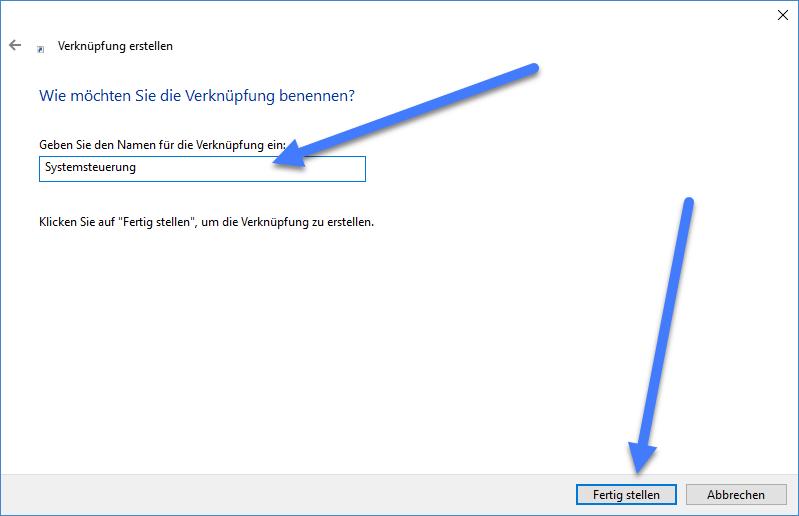 systemsteuerung - Windows 10: Desktop Verknüpfung zur Systemsteuerung erstellen – so geht's