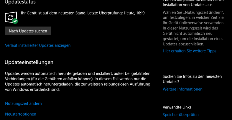 unbenannt 780x405 - Windows 10 Update Verknüpfung auf Desktop