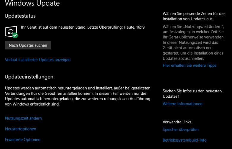 unbenannt 780x500 - Windows 10 Update Verknüpfung auf Desktop