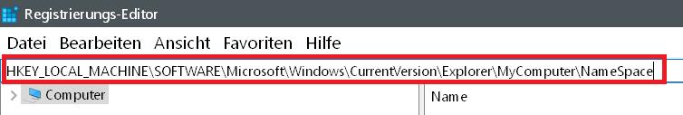 1 wert eingeben - Windows 10 3D-Objekte Ordner entfernen