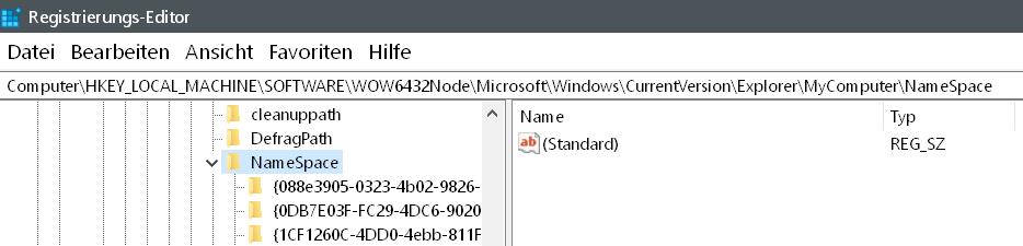 2 unterordner umbenennen - Windows 10 3D-Objekte Ordner entfernen