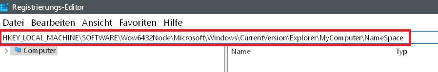 2 wert eingeben - Windows 10 3D-Objekte Ordner entfernen