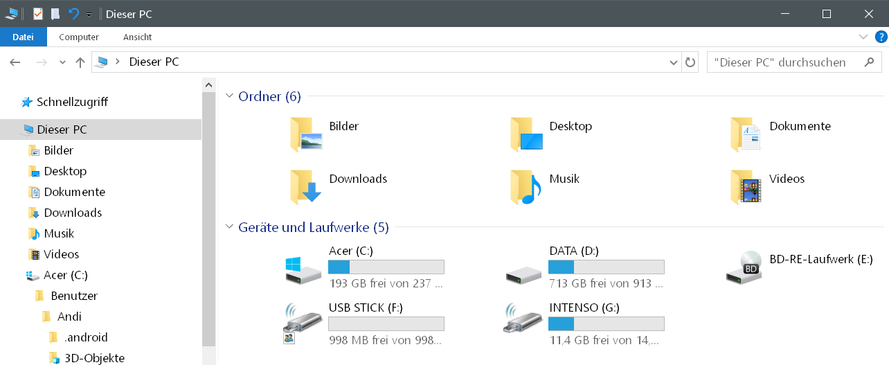 2ter stick neues icon - Windows 10 Hardware Icon ändern