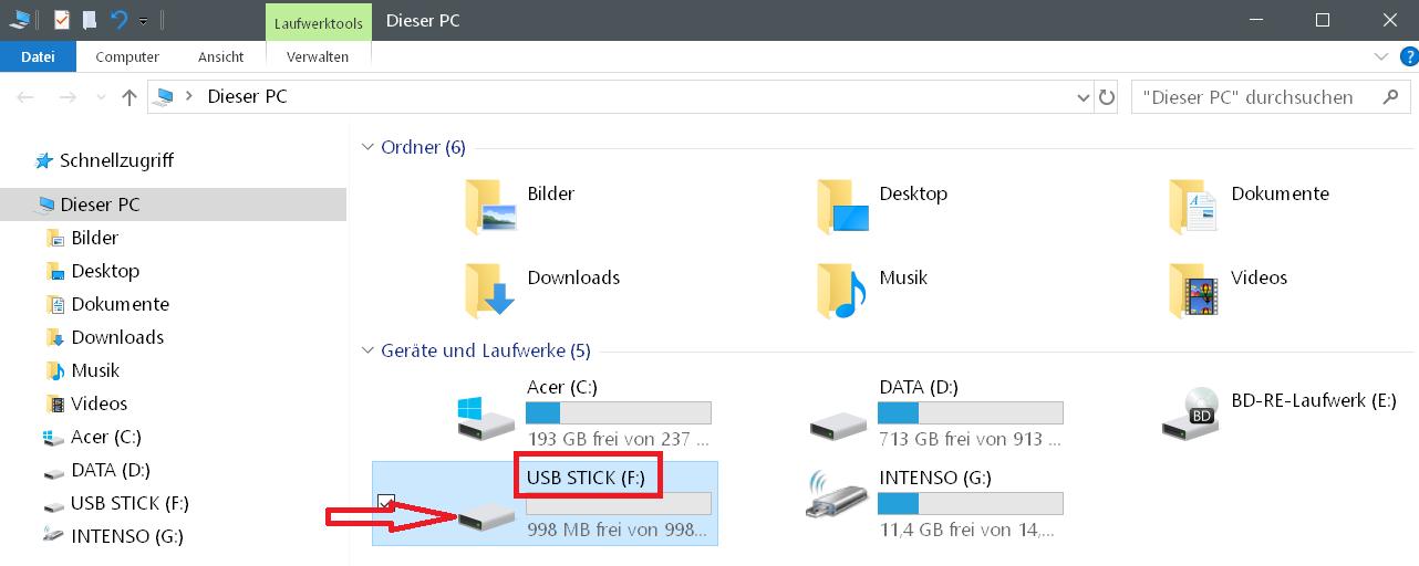 2ter stick standard icon - Windows 10 Hardware Icon ändern
