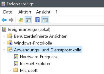 anwendungsprotokoll - Windows 10 Startzeit von seinem PC auslesen