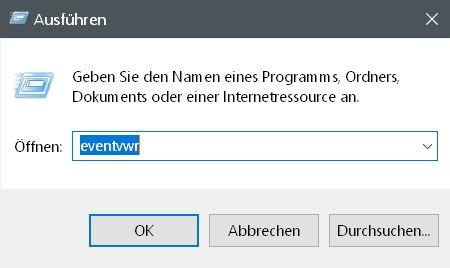ausfuehren event - Windows 10 Startzeit von seinem PC auslesen