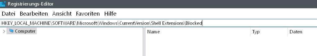 blocked nicht vorhanden - Windows 10 Vorgängerversion wiederherstellen aus dem Kontextmenü entfernen