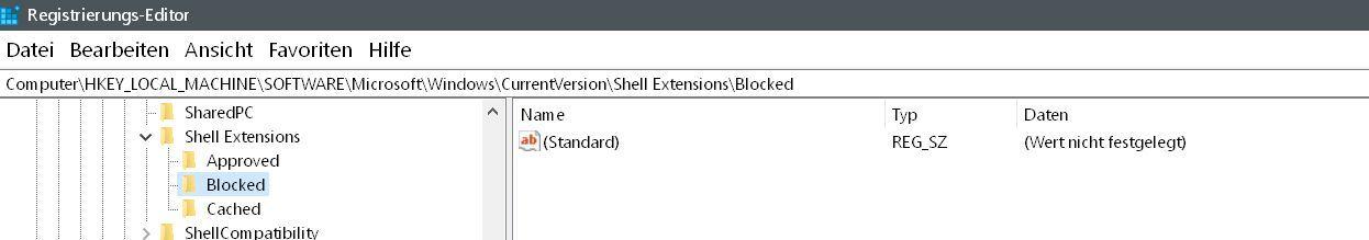 blocked - Windows 10 Vorgängerversion wiederherstellen aus dem Kontextmenü entfernen