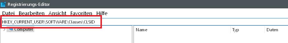 clsid - Windows 10 Icon Schnellzugriff ändern