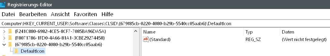 defaulticon - Windows 10 Icon Schnellzugriff ändern