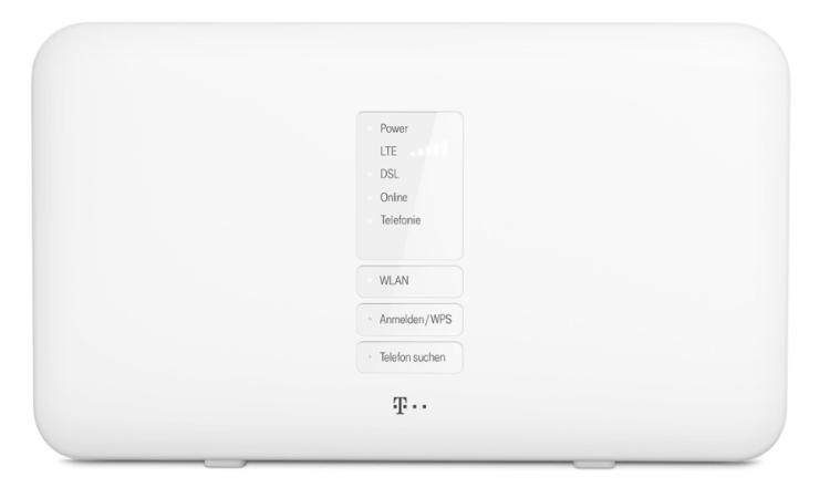 frontansicht - Telekom MagentaZuhause M mit Hybrid Router