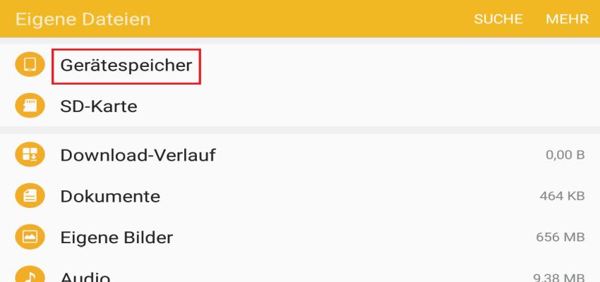 geraetespeicher - WhatsApp Sent Ordner löschen