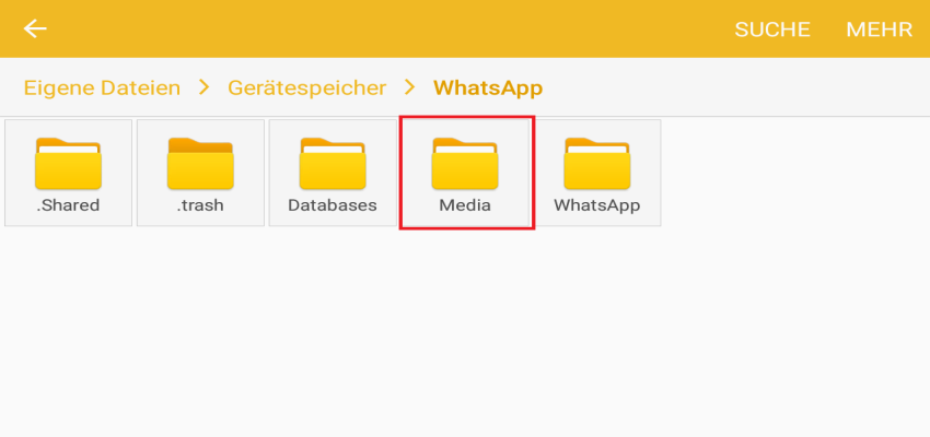 media - WhatsApp Sent Ordner löschen