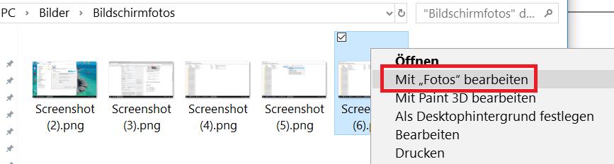 """mit fotos bearbeiten - Windows 10 """"Mit Fotos bearbeiten"""" aus dem Kontextmenü entfernen oder nur verstecken"""