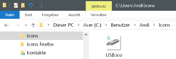 ordner icons - Windows 10 Hardware Icon ändern