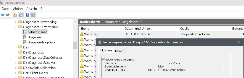 poup mit dem wert - Windows 10 Startzeit von seinem PC auslesen