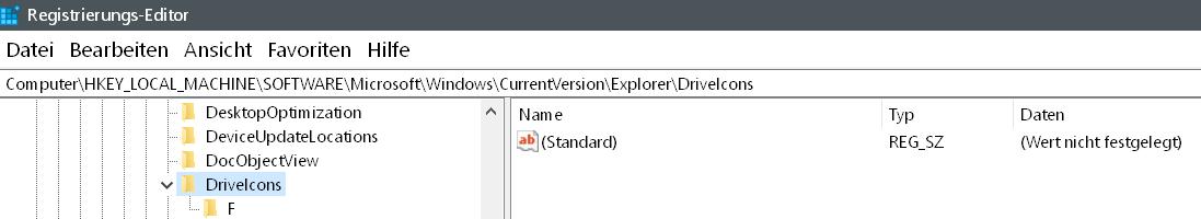 reg driveicons - Windows 10 Hardware Icon ändern