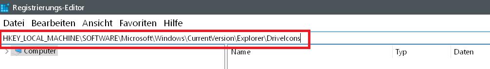 reg suche start - Windows 10 Hardware Icon ändern