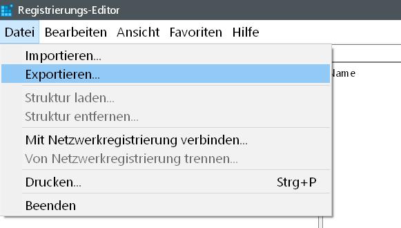 registry exportieren - Windows 10 statt Vorschaubilder nur Text in der Taskleiste