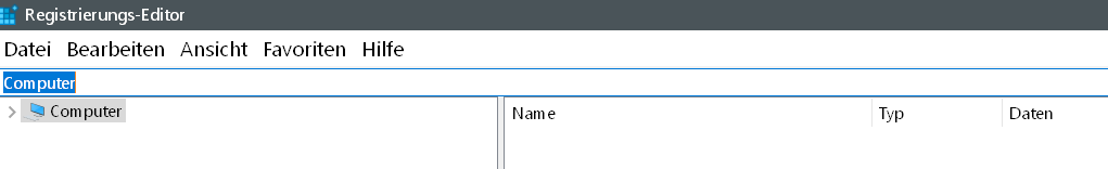 registry start - Windows 10 Eintrag Spielen unter Einstellungen entfernen