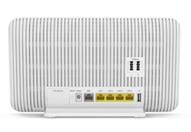 rueckansicht - Telekom MagentaZuhause M mit Hybrid Router