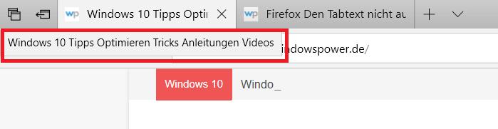 tabvorschau nur text - Microsoft Edge Tab Vorschau deaktivieren