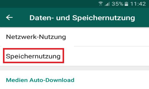 whatsapp speichernutzung - WhatsApp Menge der verschickten und empfangenen Daten anzeigen