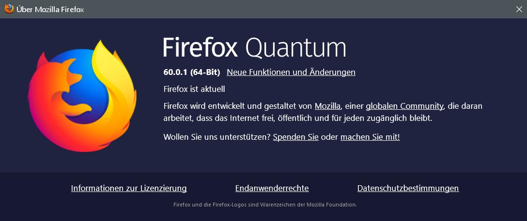 60.0.1 - Firefox Version 60.0.1 ist erschienen