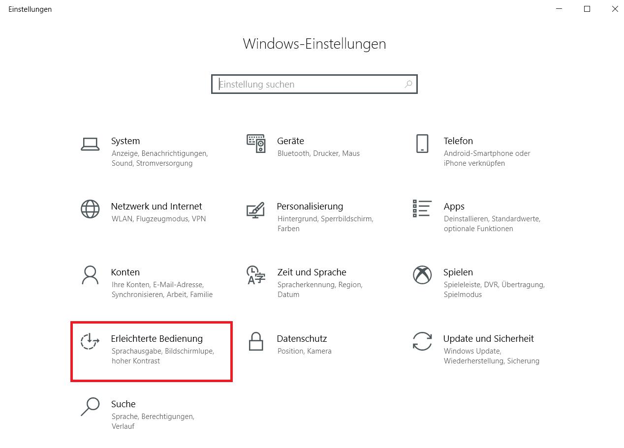einstellungsfenster - Windows 10 Scrollleisten in den Einstellungen und Apps immer anzeigen