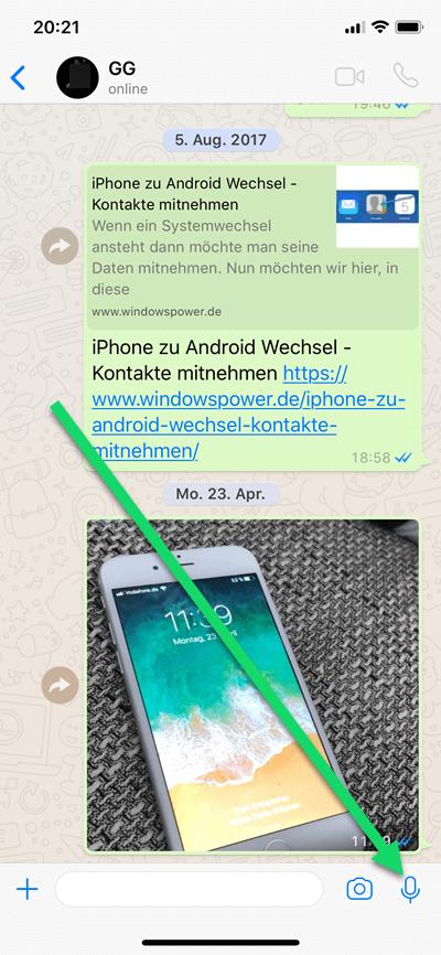 Whatsapp Sprachnachricht Schreiben