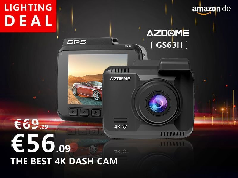 AZDOME 4k Dashcam WIFI GPS 2160P
