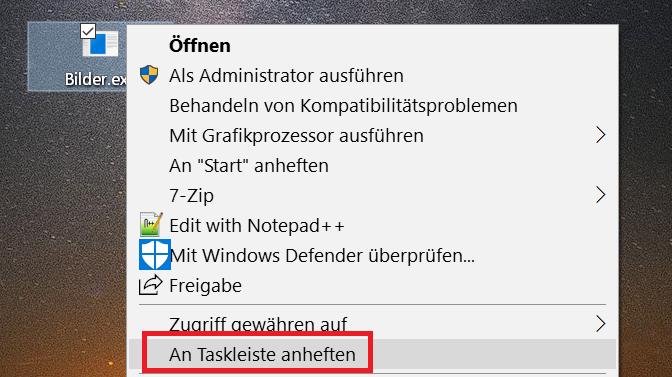 an-taskleiste-anheften-eintrag