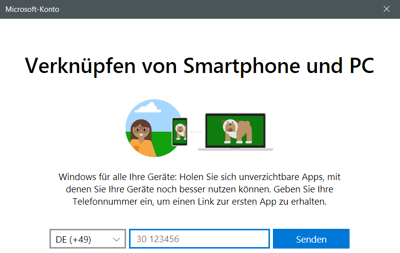 anmeldung - Windows 10 Telefon deaktivieren