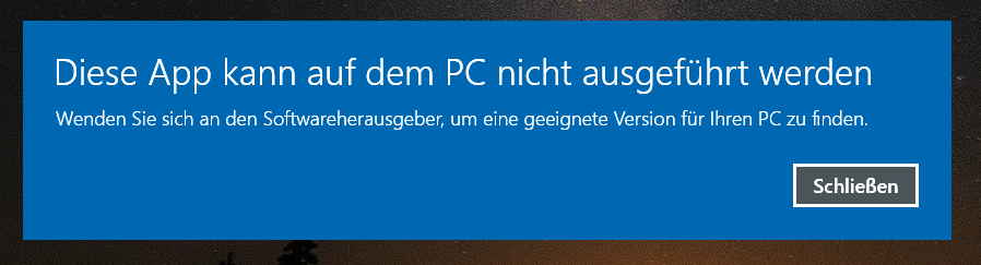 app warnmeldung - Windows 10 Ordner an die Taskleiste anheften