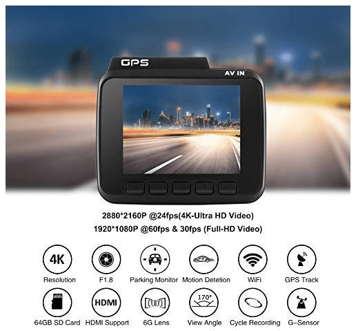 azdome autokamera dashcam - AZDOME Autokamera Dashcam WIFI GPS 2160P 4K Ultra HD für 56,99 € statt 69,99 € - Nur Heute