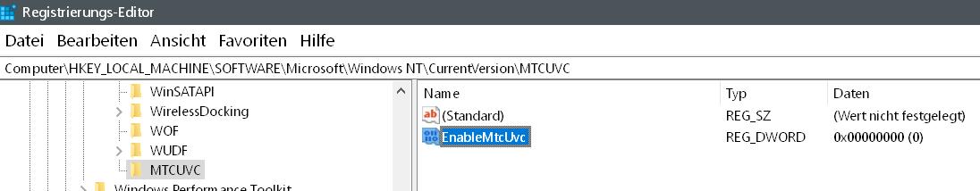 dword name - Windows 10 alten senkrechten Lautstärkeregler aktivieren