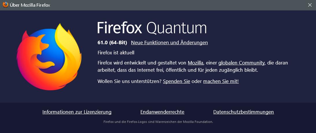 firefox 61 - Firefox Version 61 ist erschienen