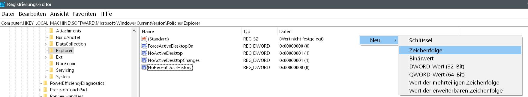 neue zeichenfolge 1 - Windows 10 Eintrag Telefon unter Einstellungen entfernen