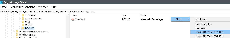 neuer dword erstellt - Windows 10 alten senkrechten Lautstärkeregler aktivieren