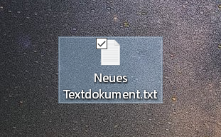 neues textdokument - Windows 10 Ordner an die Taskleiste anheften
