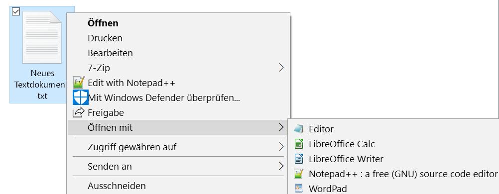 ohne firefox eintrag - Windows 10 Öffnen mit.. Einträge im Kontextmenü ändern