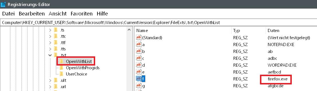 openwith firefox eintrag - Windows 10 Öffnen mit.. Einträge im Kontextmenü ändern