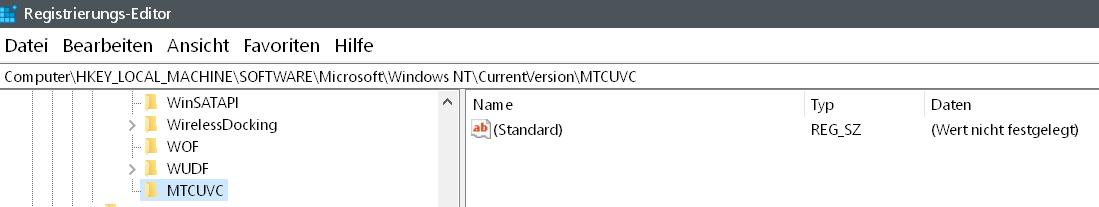 schluessel erstellt 1 - Windows 10 alten senkrechten Lautstärkeregler aktivieren